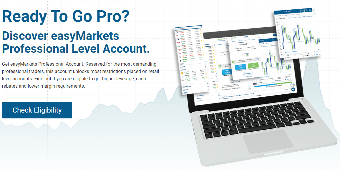 Check if you are eligible for easyMarkets Professional Level Account