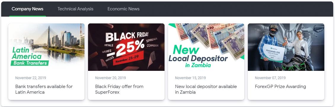 SuperForex Nieuws en Analytics