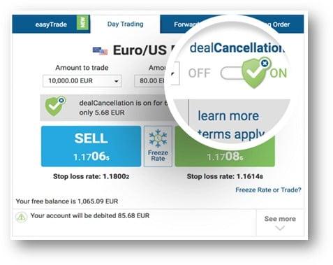 easyMarkets Deal Cancellation