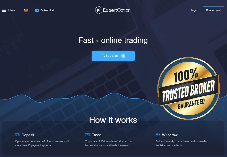 Официальный сайт ExpertOption