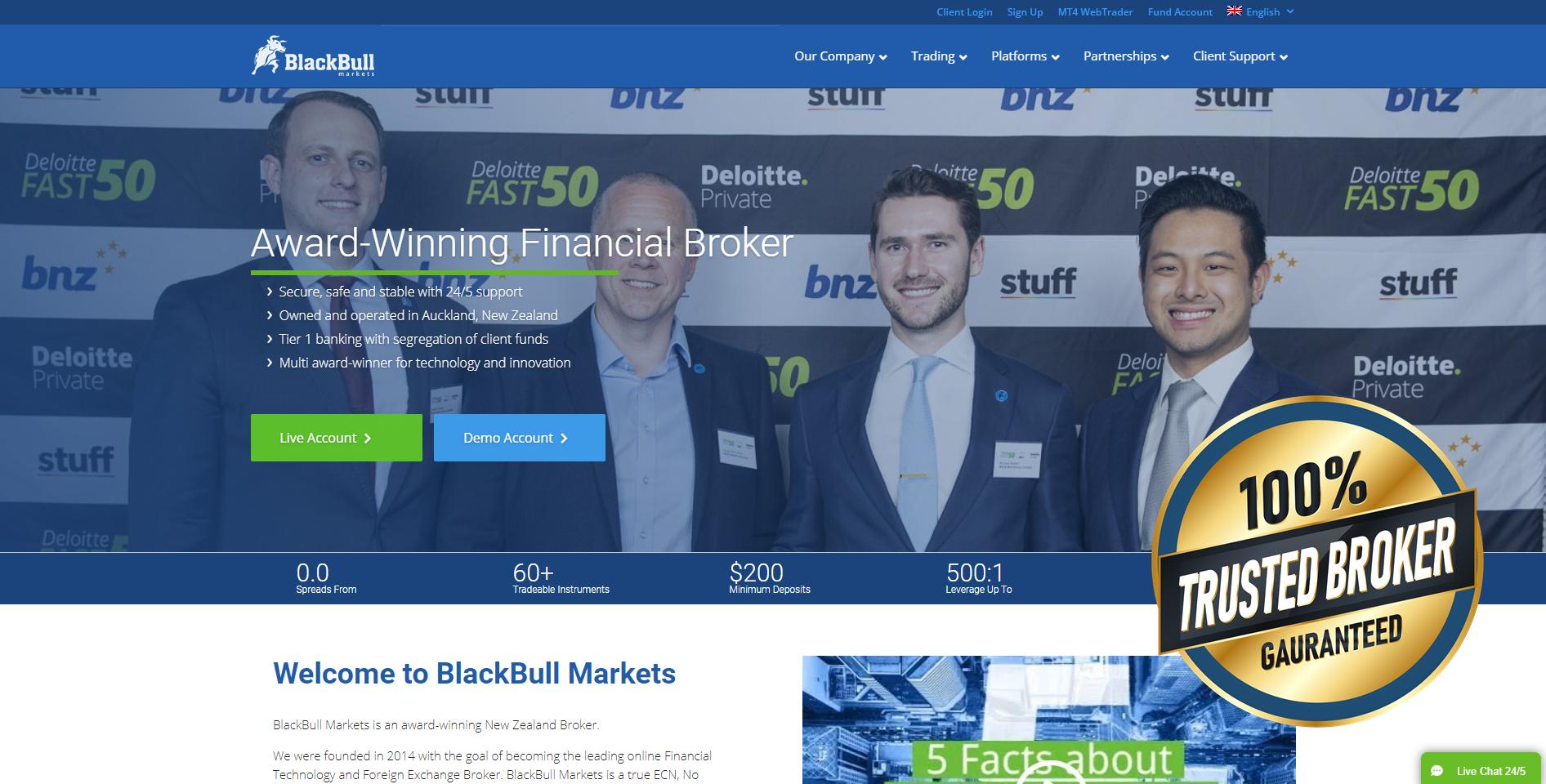 Официальный сайт BlackBull Markets
