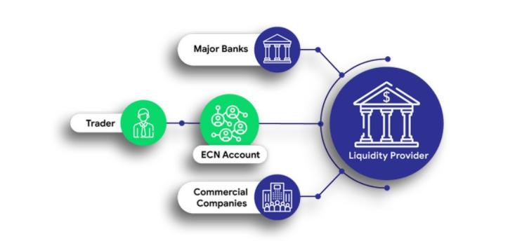 ईसीएन विदेशी मुद्रा ब्रोकर ग्राफिक