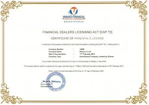 Deriv's Vanuatu Financial Services Commission (VFSC) license