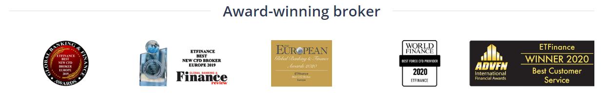 ETFinance jest wielokrotnie nagradzanym brokerem