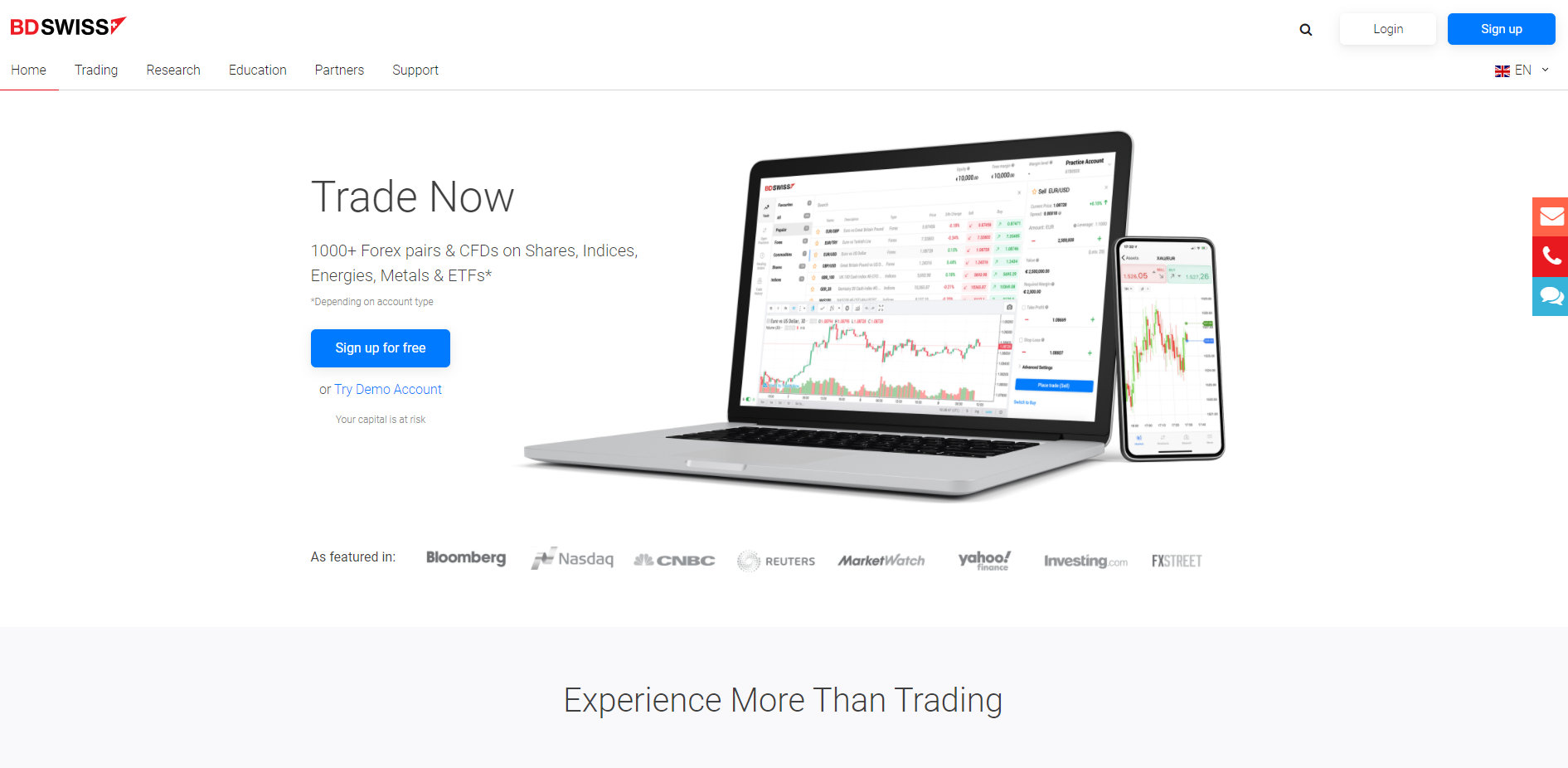 BDSwiss forex broker in India
