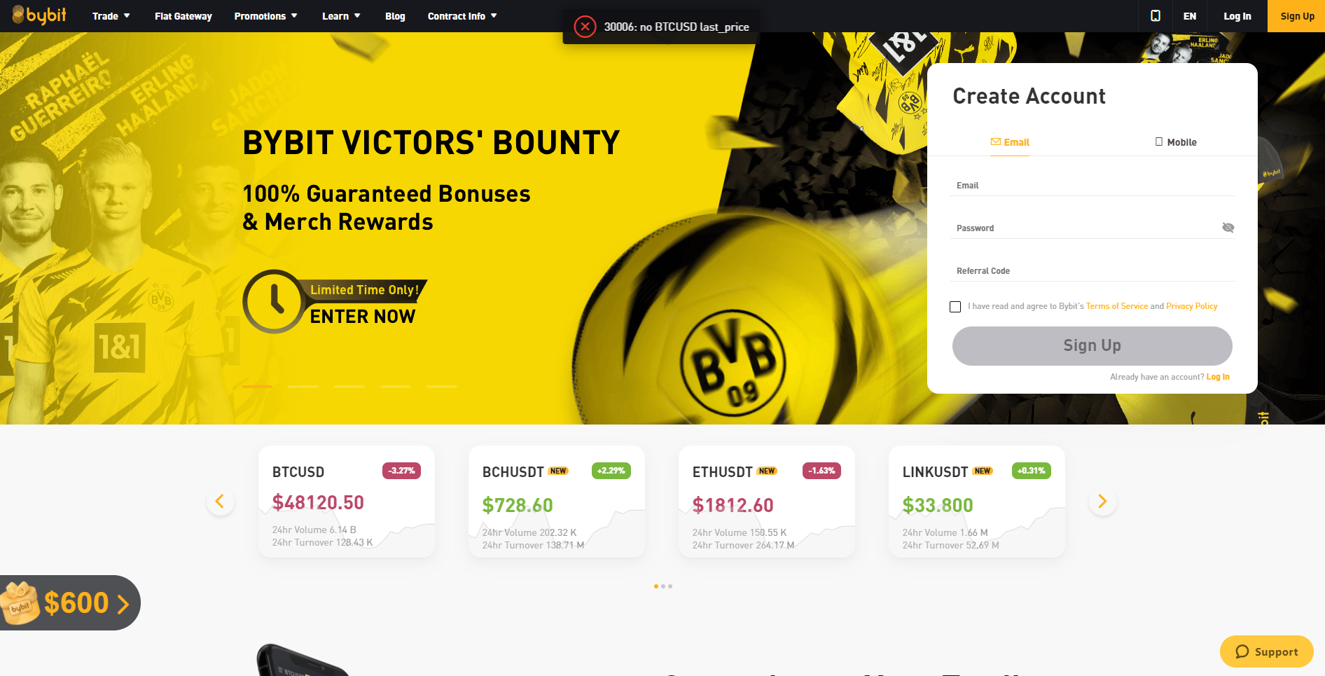ByBit cryptocurrency exchange