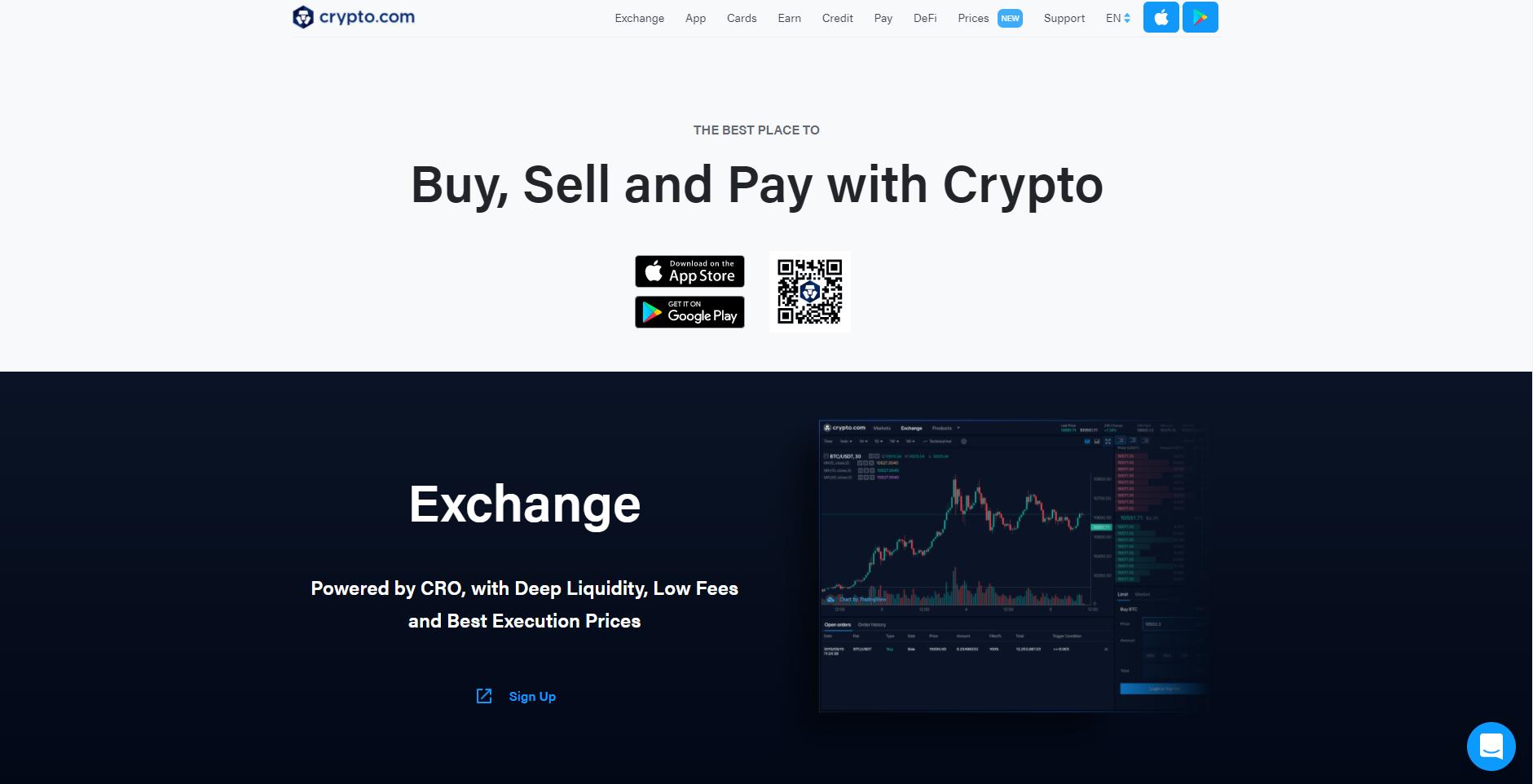 Crypto.com cryptocurrency exchange