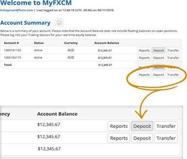 FXCM deposit tutorial