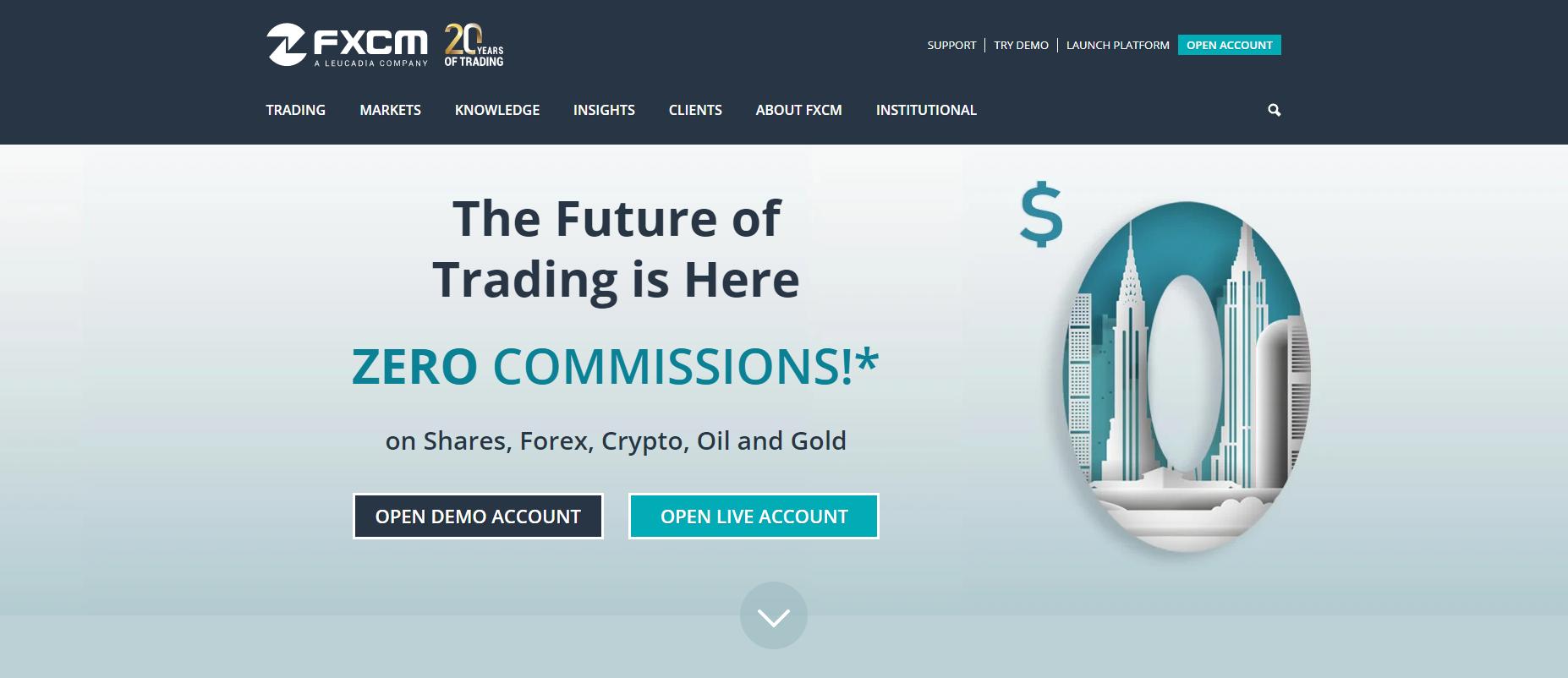 FXCM website