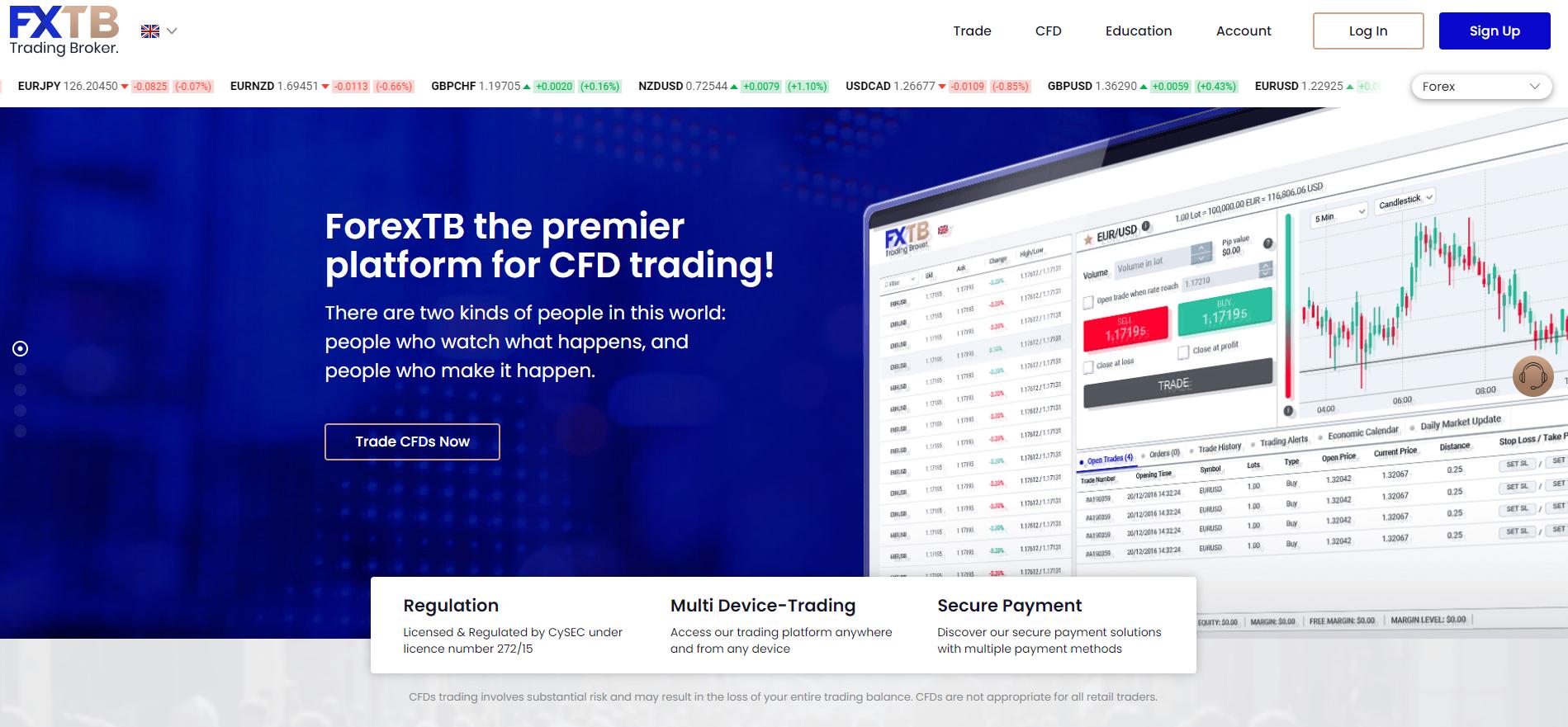 FXTB आधिकारिक वेबसाइट