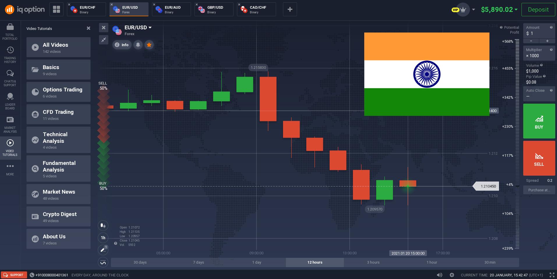 IQ Option trading platform in India