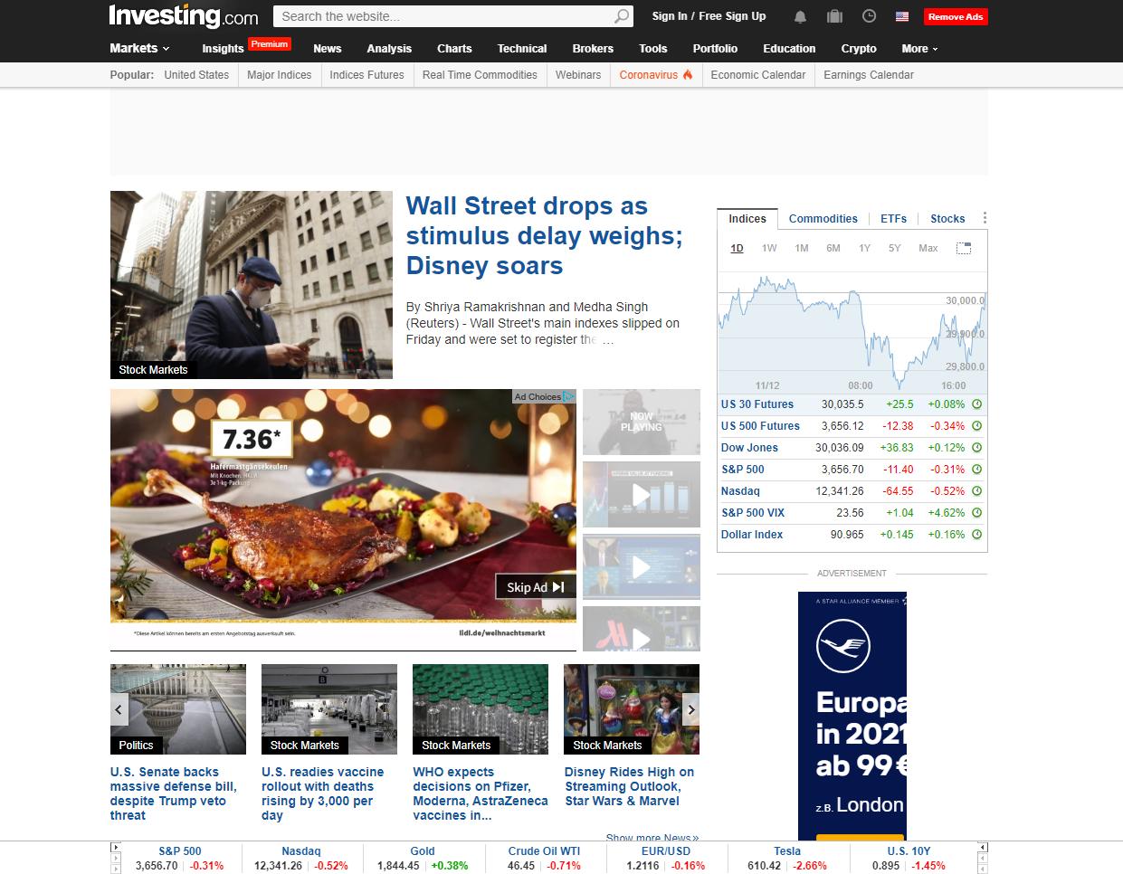 Investing.com web