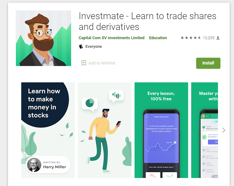 Aplikacja Investmate capital.com