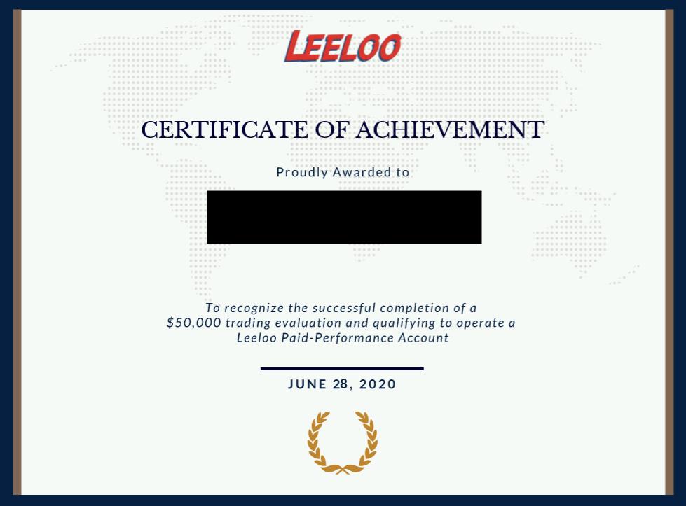Leeloo Trading funding certificate