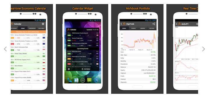 Mobilní aplikace Myfxbook