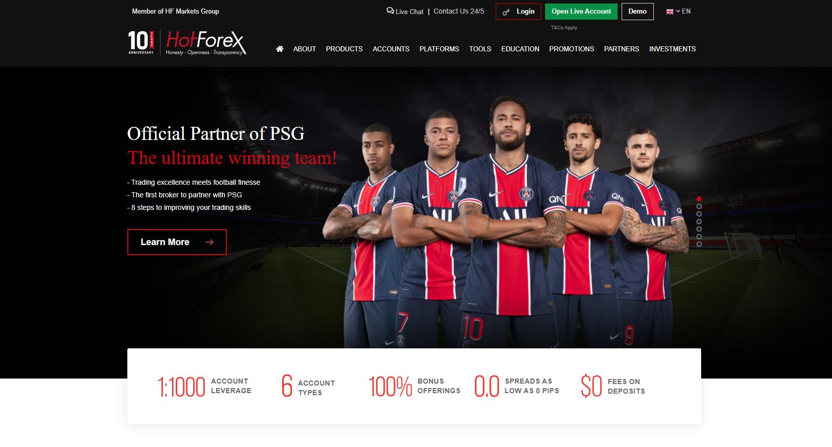 Officiële website van HotForex
