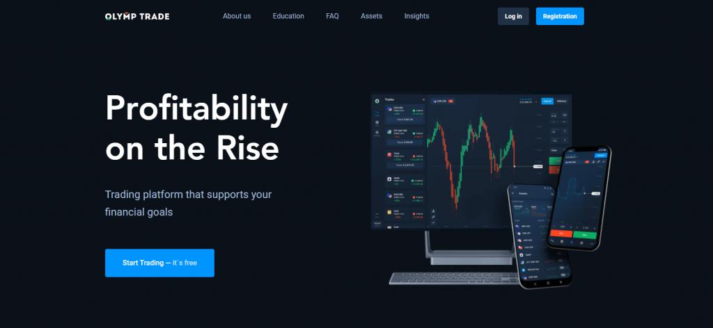 Olymp Trade Africa Website