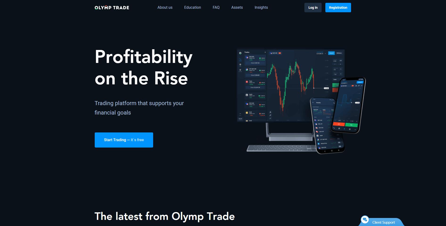 Olymp Trade corredor de divisas en Africa