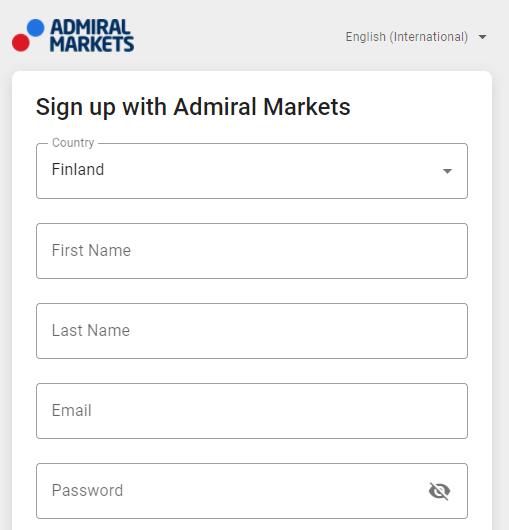 Meld je aan bij Admiral Markets