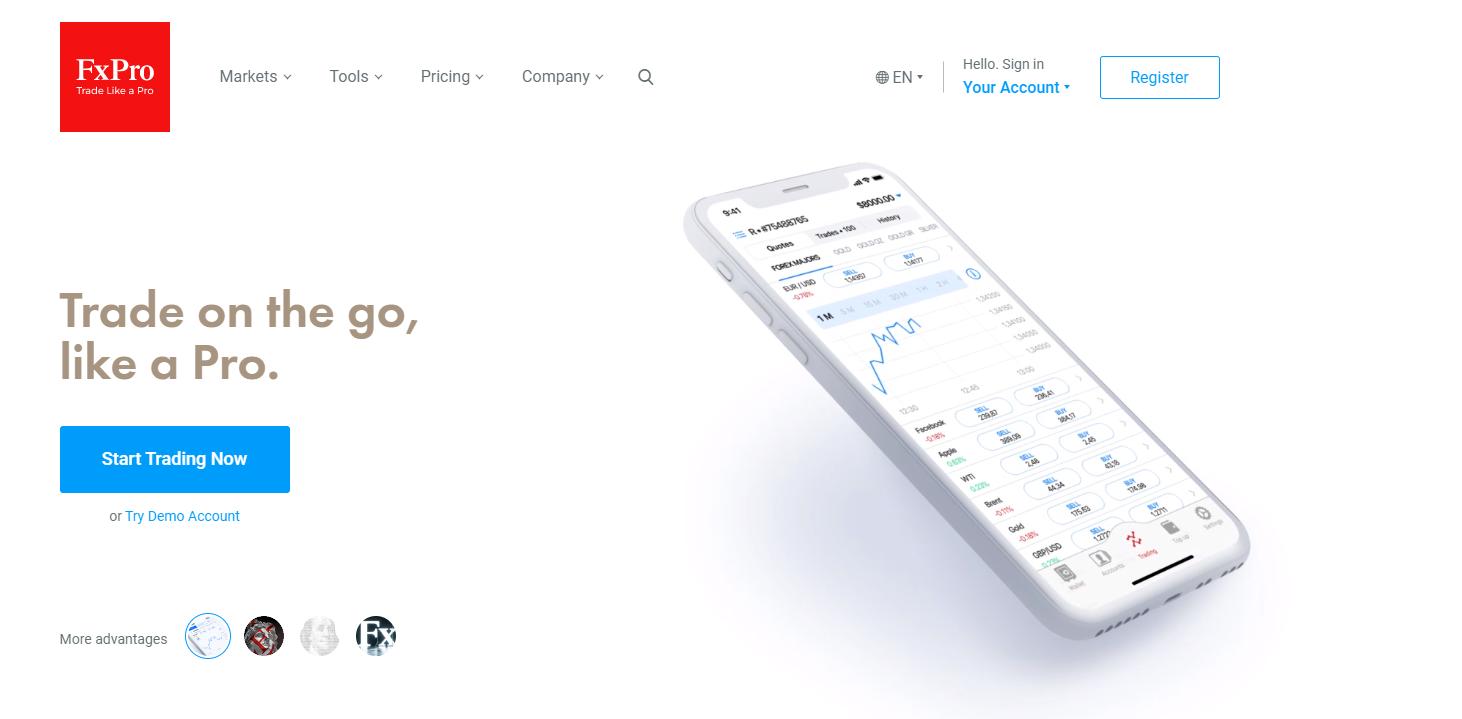 Уебсайт на FxPro