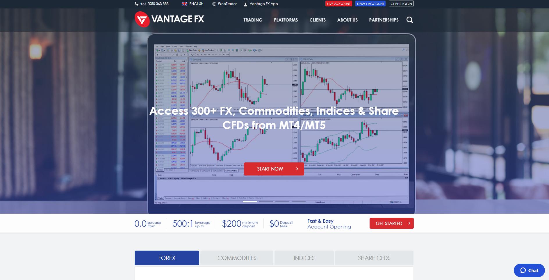 Official website of Vantage FX