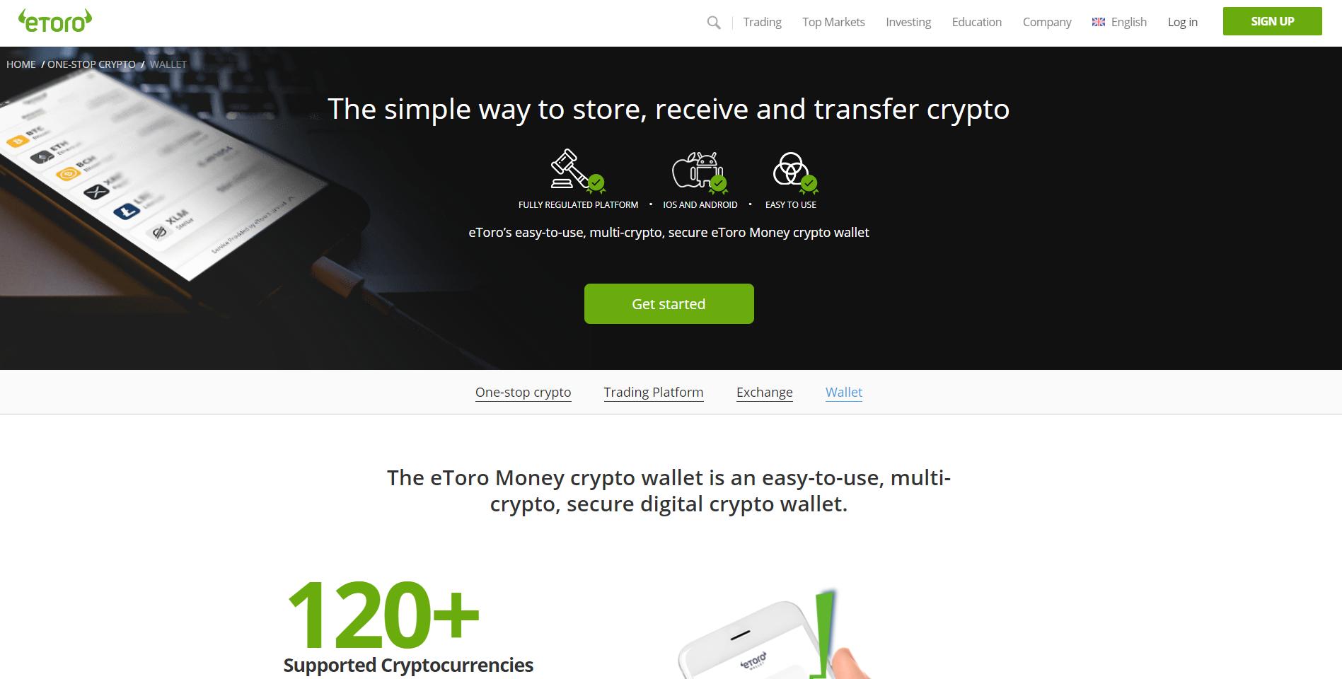 Oficiální stránky peněženky Etoro