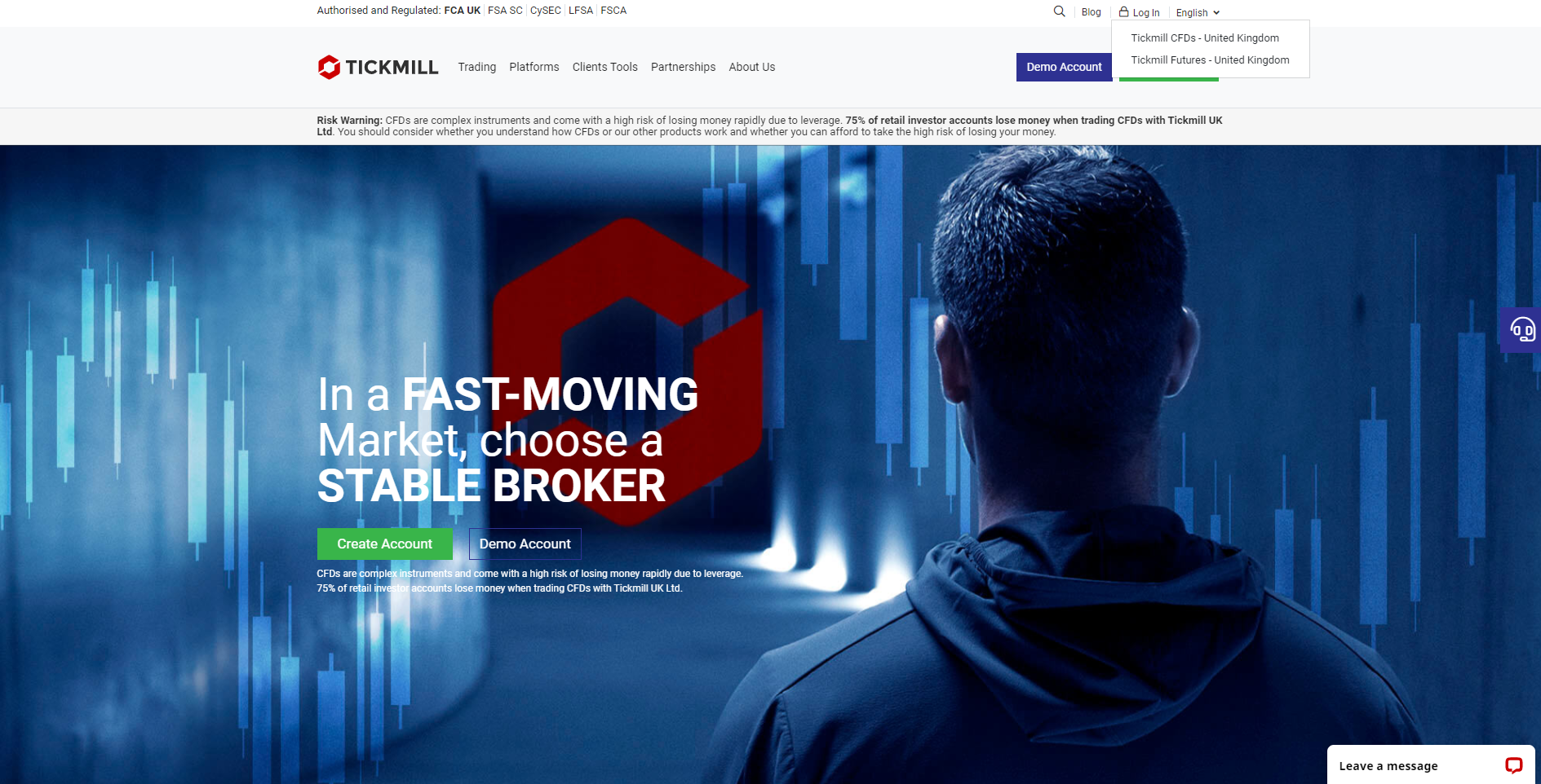 Official website of the forex broker Tickmill in the UK