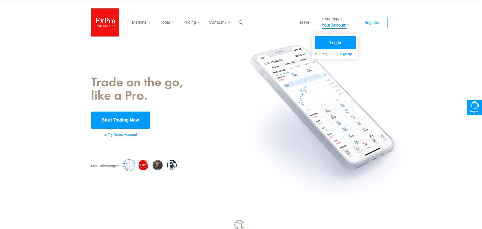 Oficjalna strona platformy forex FxPro