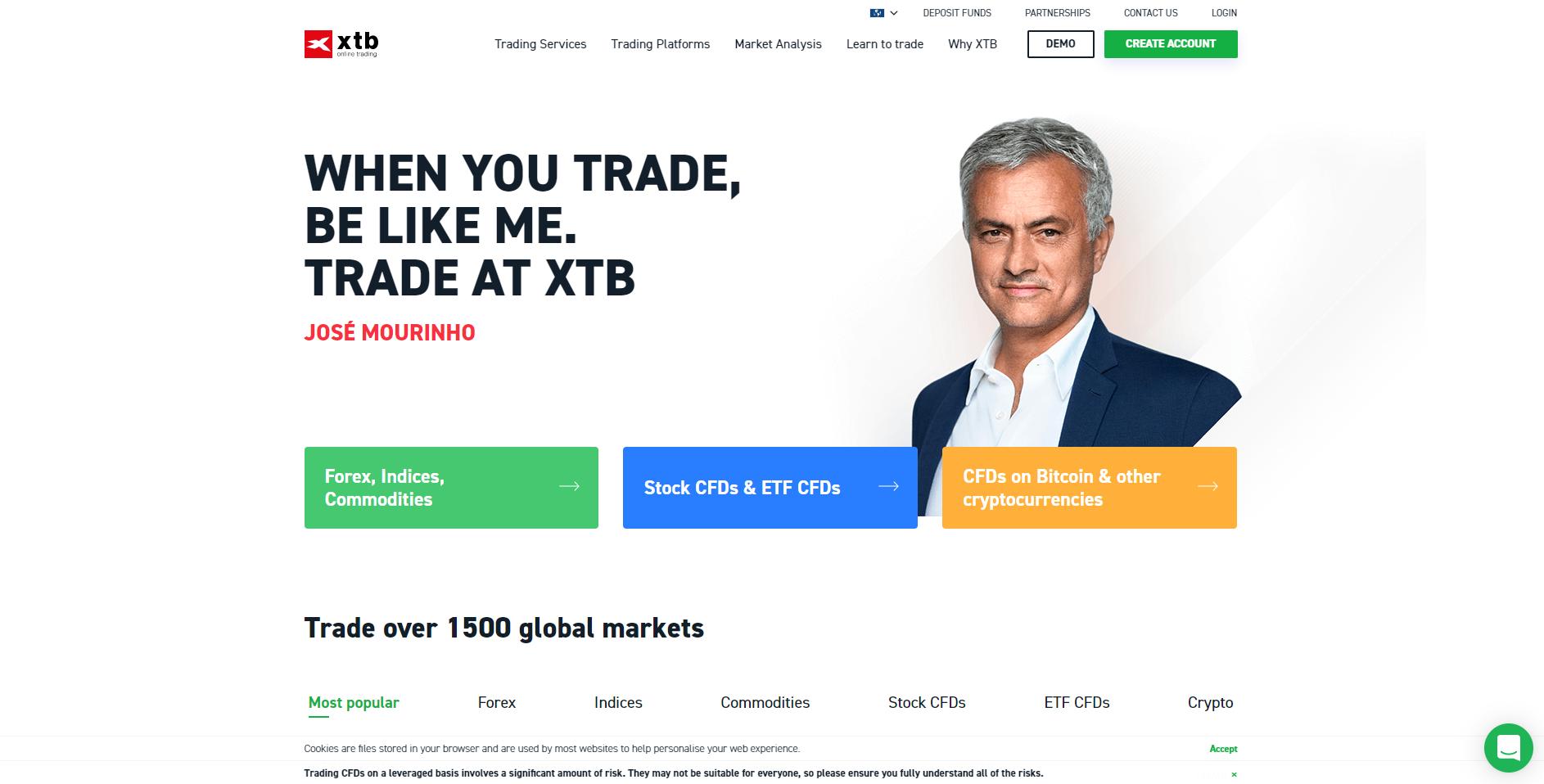 Oficjalna strona platformy forex XTB