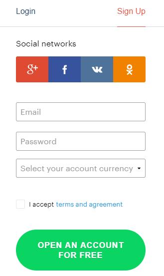 Apri il tuo conto di trading con Binarium