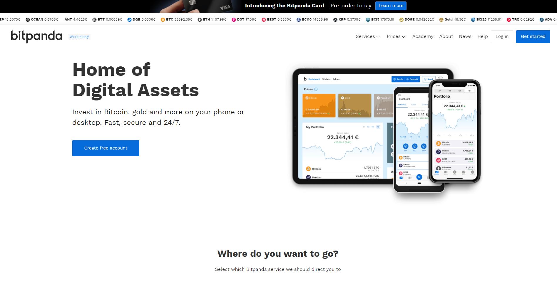 Official website of Bitpanda