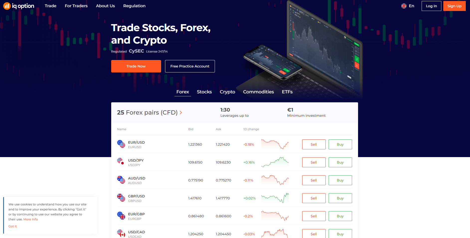 Official website of IQ Option