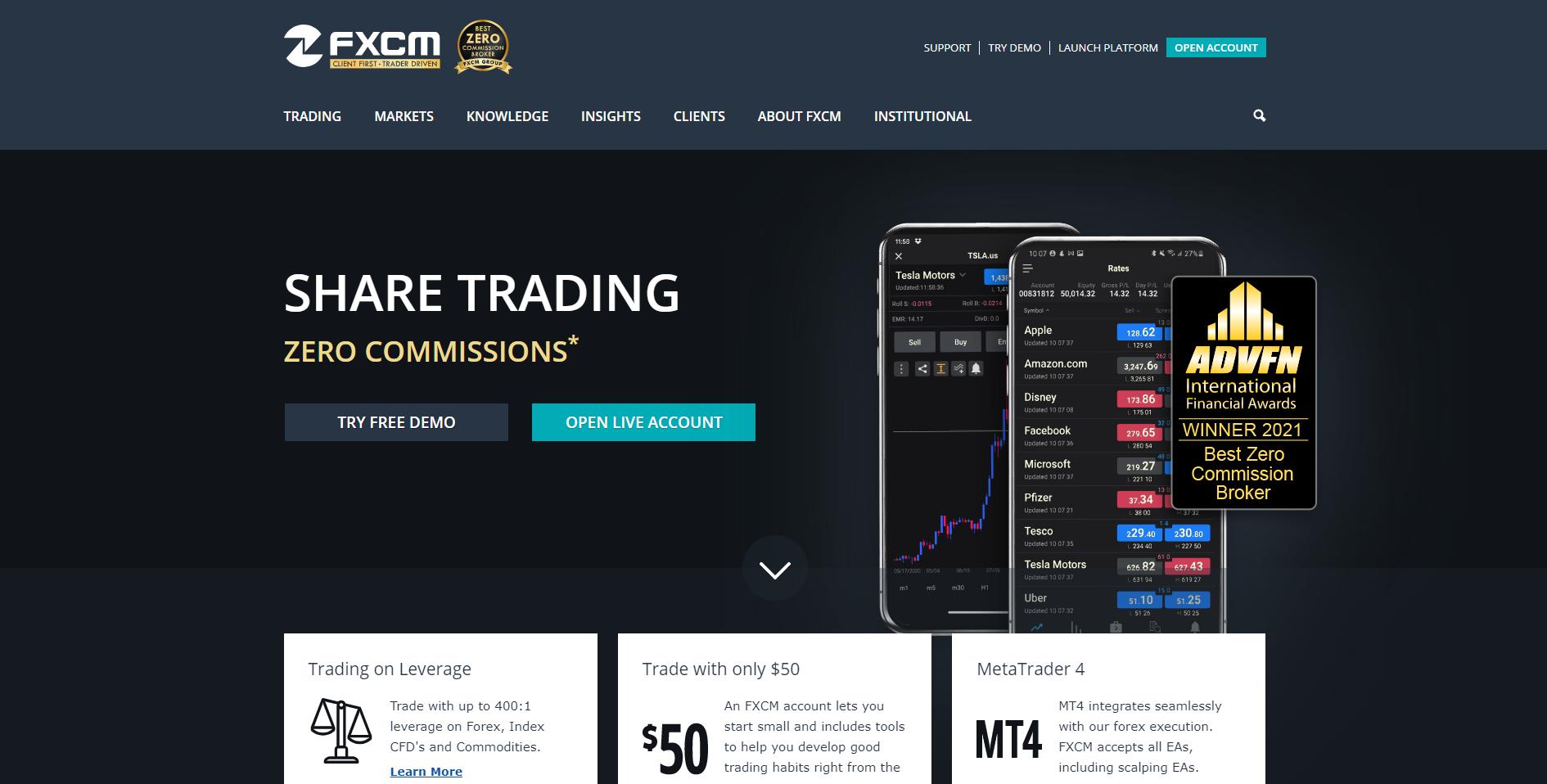 Official website of FXCM