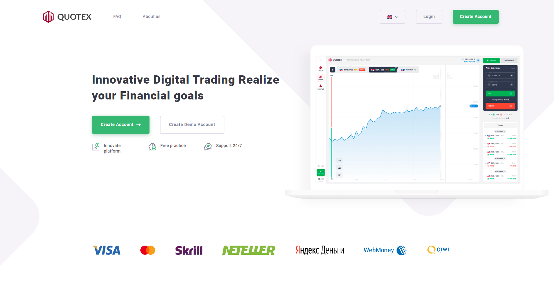 Official website of Quotex